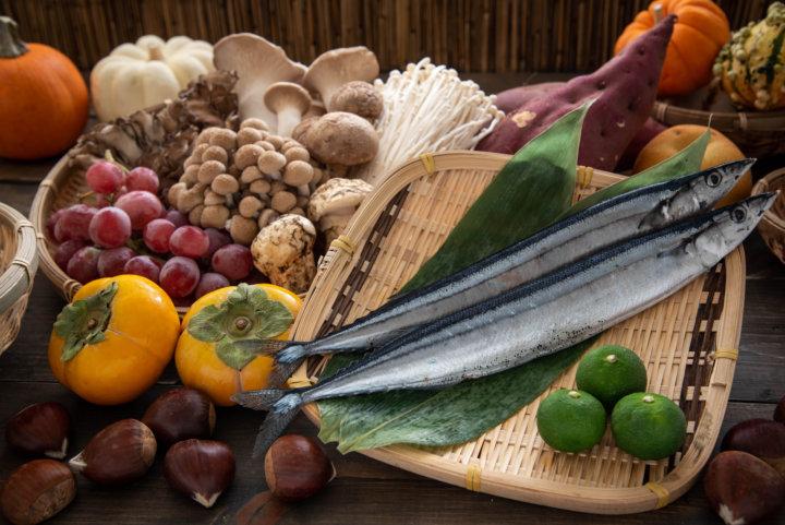 旬な魚や野菜の写真